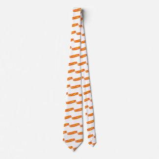 Necktie with Fun Hotdog Pattern