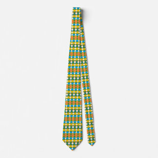 Necktie with Geometric Pattern, Colorful Triangles