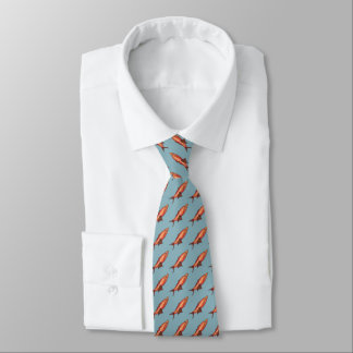 Necktie with Happy Fish