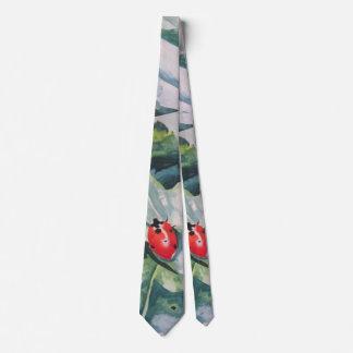 "Necktie with ""Ladybug"" by ALarsenArtist"