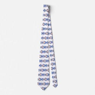 Necktie with Letter Design