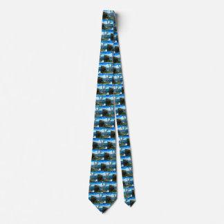 Necktie with Seascape Photograph