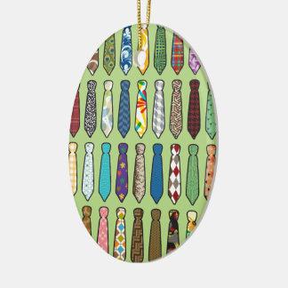 Neckties Ceramic Ornament