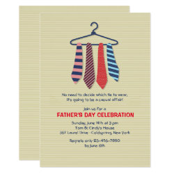Neckties Father's Day Invitation