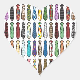 Neckties Heart Sticker