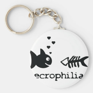 necro philiac fish icon basic round button keychain