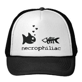 necro philiac fish icon mesh hat