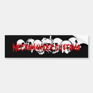 Necromancer customs Bumper Sticker