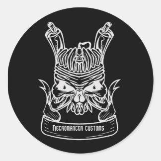 Necromancer Customs Flathead logo Classic Round Sticker