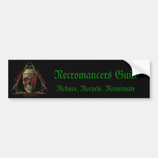 Necromancers Guild Car Bumper Sticker