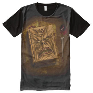 Necronomicon Book of the Dead Airbrush Art All-Over-Print T-Shirt