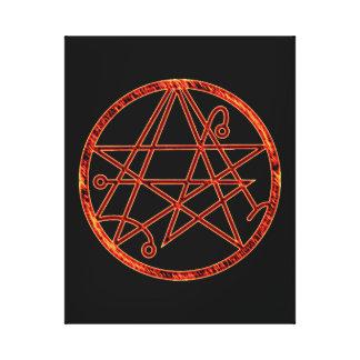Necronomicon (burning) canvas print