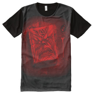 Necronomicon Demon Book of the Dead Airbrush Art All-Over-Print T-Shirt