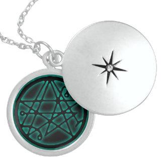 Necronomicon - Gateway Ianua Sigil Talisman Round Locket Necklace