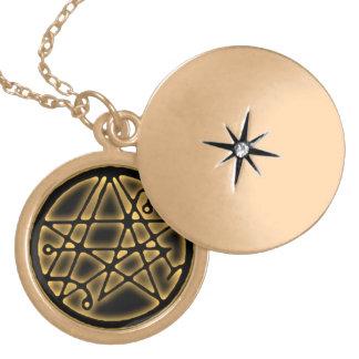 Necronomicon - Gateway Sigilum Gold Talisman. Pendants