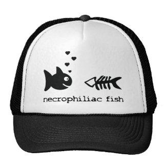 necrophiliac fish icon hats