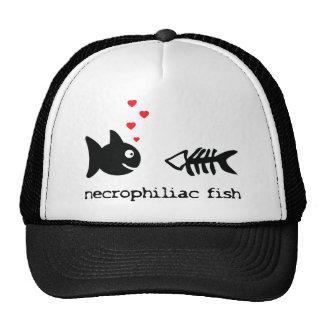 necrophiliac fish in love icon trucker hat