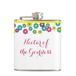 Nectar of the Goddess Hippy Hip Flask