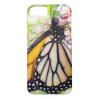 Néctar que sorbe de la mariposa de monarca funda iPhone 7
