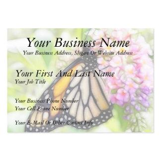 Néctar que sorbe de la mariposa de monarca plantillas de tarjetas de visita