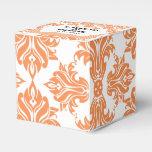 Nectarina y caja blanca del favor del boda del paquete de regalo para bodas
