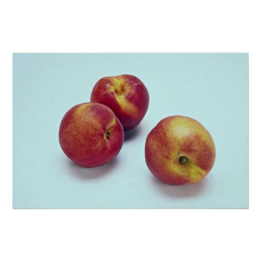 Nectarinas la fruta liso-pelada poster