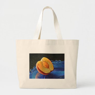 Beach Themed Nectarine Glow Large Tote Bag