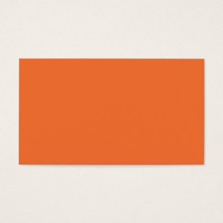 Nectarine Orange Color Trend Blank Template Business Card