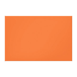 Nectarine Orange Color Trend Blank Template Gallery Wrap Canvas