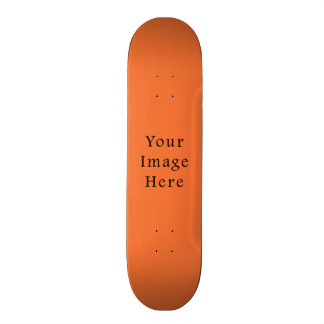 Nectarine Orange Color Trend Blank Template Skateboard Deck