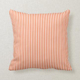 Nectarine Orange Striped Decorative Pillows