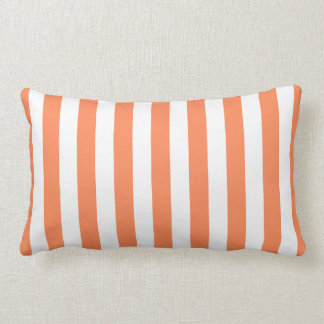 Nectarine Orange Stripes Pattern Lumbar Pillow