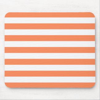 Nectarine Orange Stripes Pattern Mouse Pad