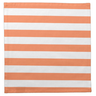 Nectarine Orange Stripes Pattern Napkin