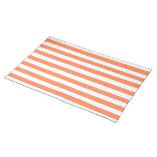 Nectarine Orange Stripes Pattern Placemat