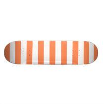 Nectarine Orange Stripes Pattern Skateboard