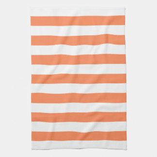 Nectarine Orange Stripes Pattern Towel