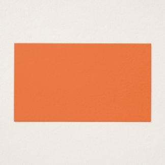Nectarine Orange Trend Color Customized Template Business Card