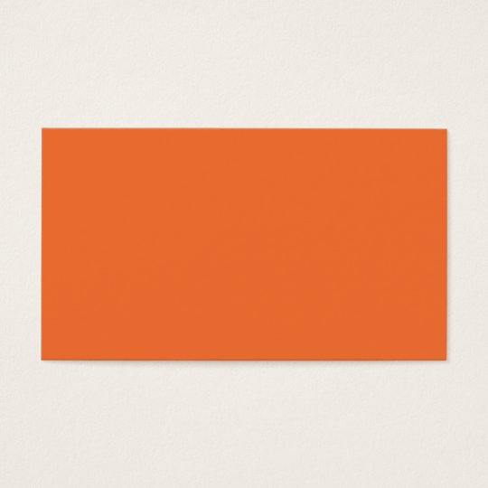 Nectarine Orange Trend Color Customized Template Business Card