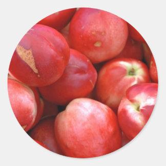Nectarines Classic Round Sticker