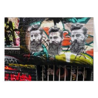 Ned Kelly graffiti, Hosier Lane Card