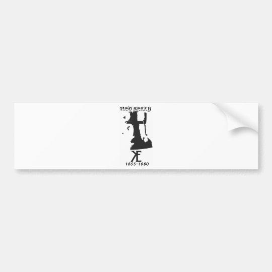 Ned Kelly Helmet Bumper Sticker