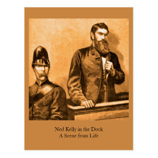 Ned Kelly in the Dock - A Scene from Life Postcard