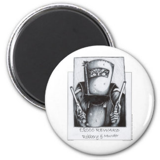 Ned Kelly: Wanted 2 Inch Round Magnet