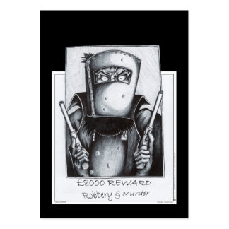 Ned Kelly: Wanted Large Business Card