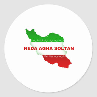 Neda Agha Soltan Classic Round Sticker