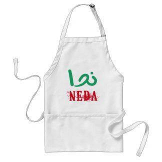 NEDA en Farsi y camisetas y ropa del inglés Delantal