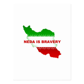 Neda is Bravery Post Cards