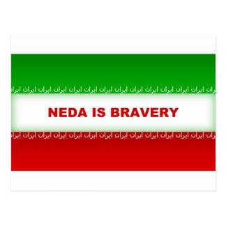 Neda is Bravery Postcard