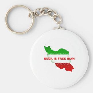 Neda is Free Iran Keychain